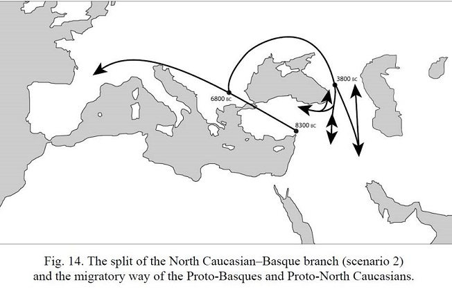 The (ancestors of the) Circassians settled in the Northwest Caucasus not earlier than 5,000 BC